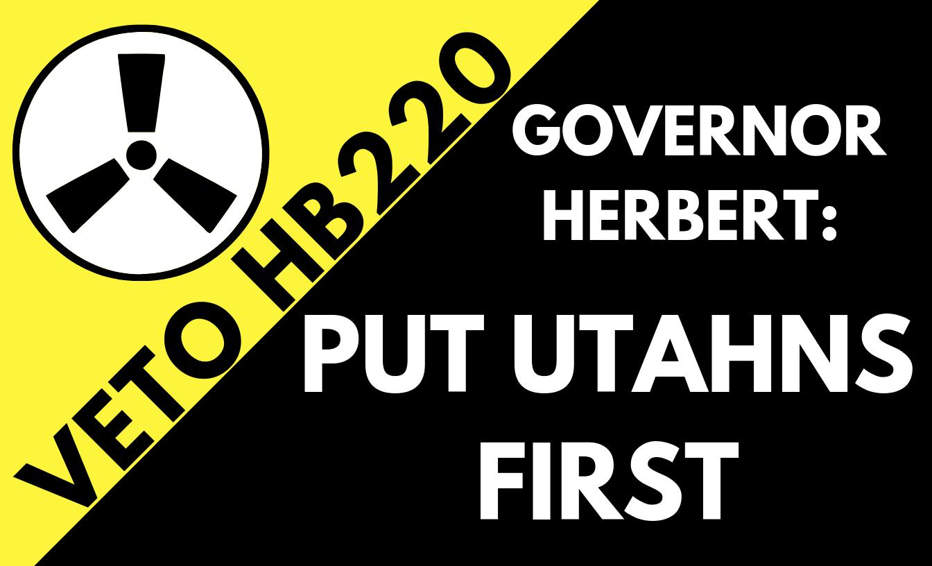 PRESS RELEASE: Governor Herbert: Put Utahns First
